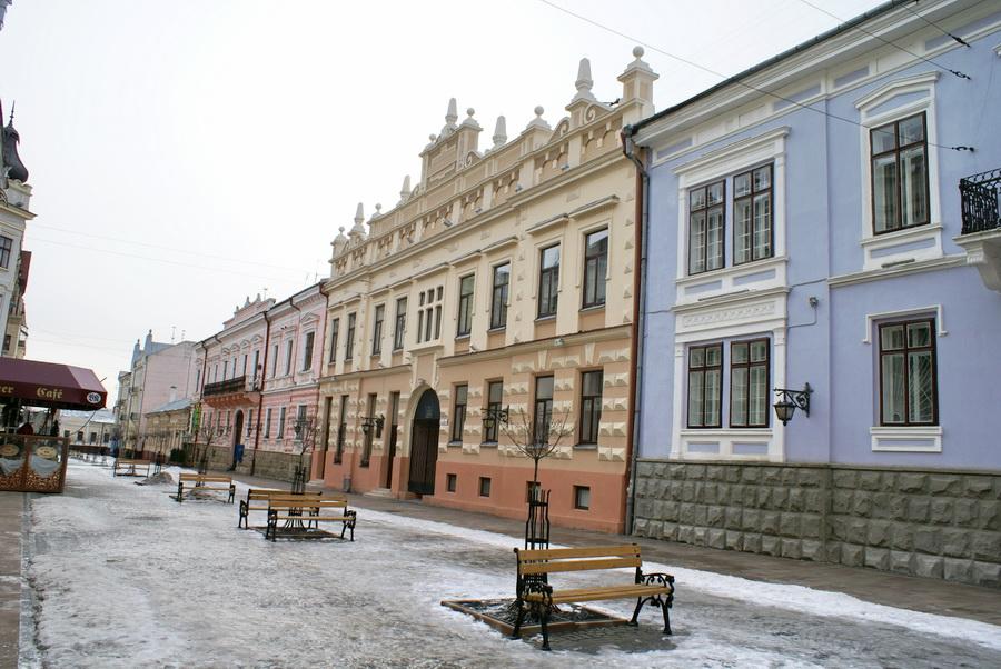 Черновцы достопримечательности улица Кобылянской Польский народный дом фото