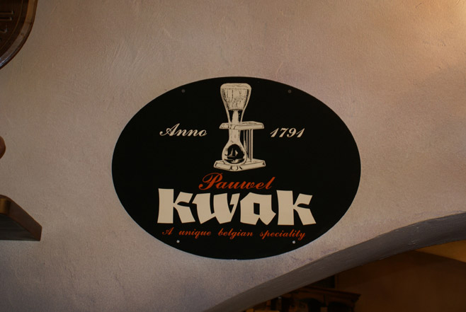 Kwak on the wall