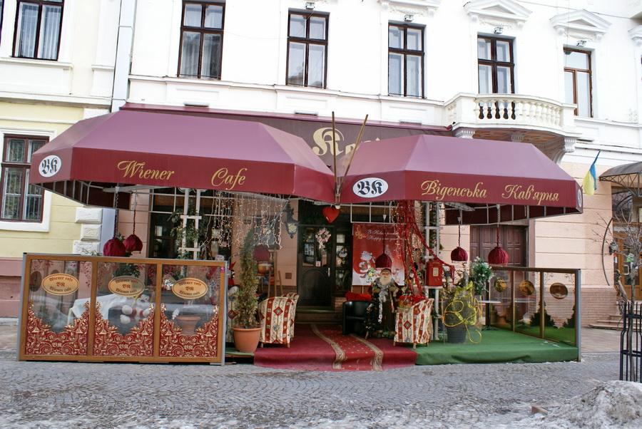 Черновцы достопримечательности на Кобылянской Віденська кав'ярня фото